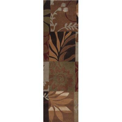 Funderburk Hand-Tufted Olive/Garnet Area Rug Rug Size: Runner 26 x 8