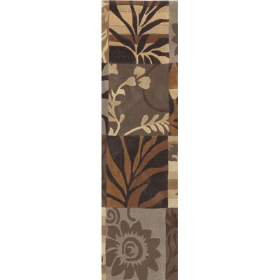 Funderburk Hand-Tufted Tan/Khaki Area Rug Rug Size: Runner 26 x 8