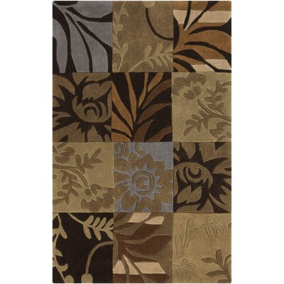 Funderburk Hand-Tufted Tan/Khaki Area Rug Rug Size: Rectangle 36 x 56
