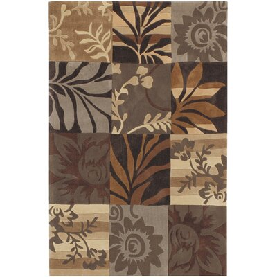 Funderburk Hand-Tufted Tan/Khaki Area Rug Rug Size: Rectangle 9 x 12