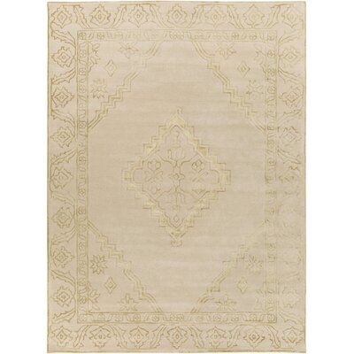 Tina Traditional Hand-Tufted Wool Beige/Gold Area Rug Rug Size: Rectangle 8 x 11