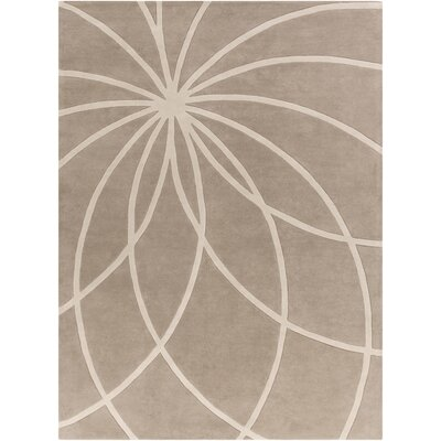 Carnahan Hand-Tufted Wool Khaki/Cream Area Rug Rug Size: Rectangle 8 x 11