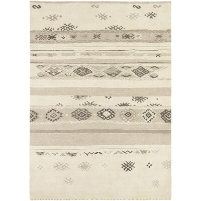 Ayers Village Hand-Knotted Wool Beige/Tan Area Rug Rug Size: Rectangle 57 x 710