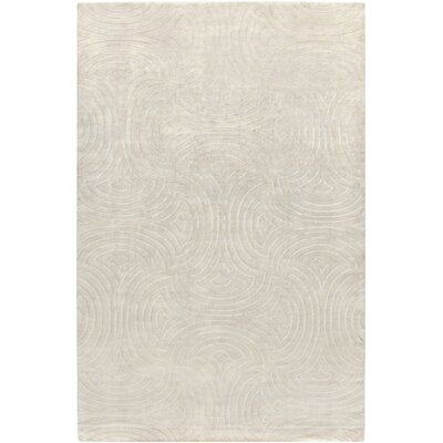 Lethe Modern Hand-Knotted Khaki/Medium Gray Area Rug Rug Size: Rectangle 5 x 8
