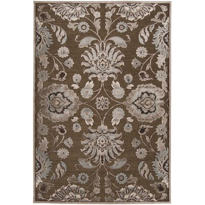Cashwell Oriental Coffee/Beige Area Rug Rug Size: Rectangle 4' x 5'7