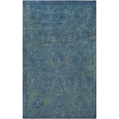 Harlowe Hand-Tufted Wool Sage/Navy Area Rug Rug Size: Rectangle 8 x 11