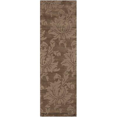 Ardal Hand-Woven Wool Coffee/Mocha Area Rug Rug Size: Runner 26 x 8