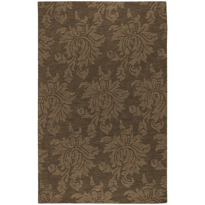 Ardal Hand-Woven Wool Coffee/Mocha Area Rug Rug Size: Rectangle 8 x 10