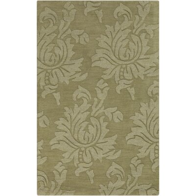 Ardal Hand-Woven Wool Sage/Crocodile Area Rug Rug Size: Rectangle 36 x 56