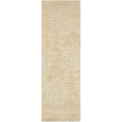 Ardal Hand-Woven Wool Cream/Beige Area Rug Rug Size: Runner 26 x 8