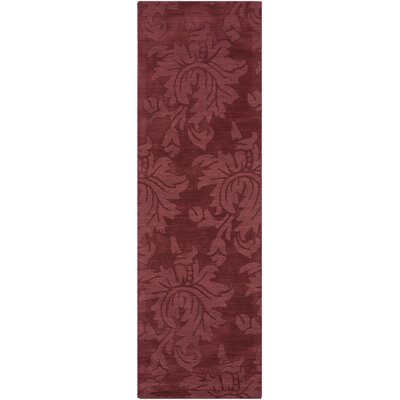 Ardal Hand-Woven Wool Blush/Pale Red Area Rug Rug Size: Runner 26 x 8
