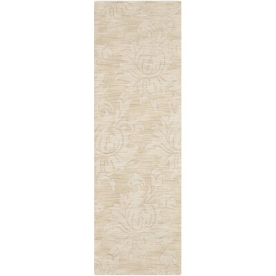 Ardal Hand-Woven Wool Beige Area Rug Rug Size: Runner 26 x 8