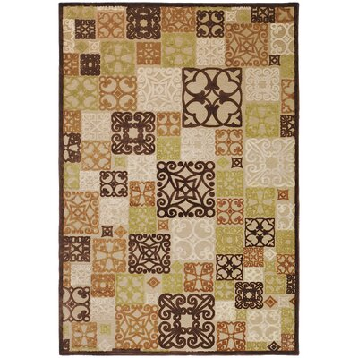 Darren Modern Burnt Orange/Beige Area Rug Rug Size: Rectangle 76 x 106