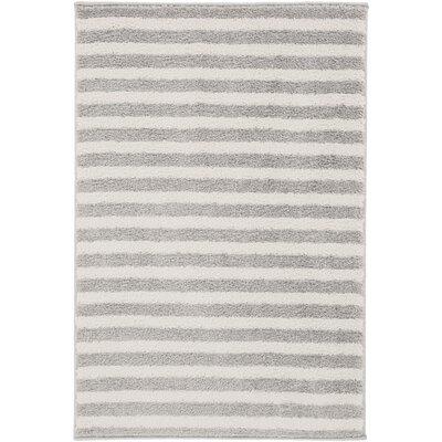 Eridani Ivory/Gray Area Rug Rug Size: Rectangle 2 x 3