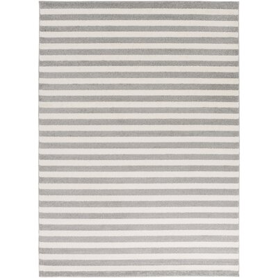 Eridani Ivory/Gray Area Rug Rug Size: Rectangle 53 x 73