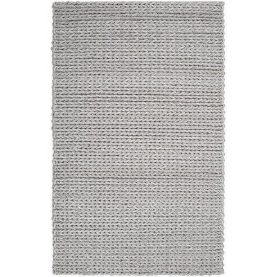 Mathews Hand Woven Wool Gray Area Rug Rug Size: Rectangle 5 x 8
