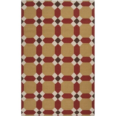 Wyckoff Caramel Geometric Area Rug Rug Size: Rectangle 2 x 3