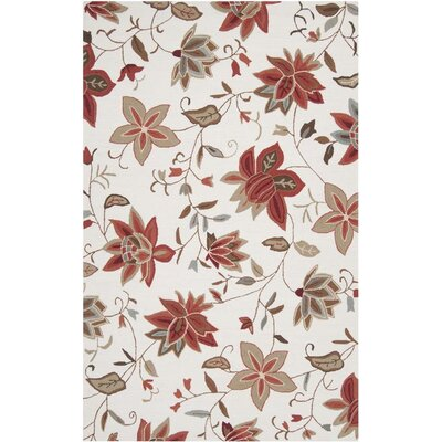 Makayla Antique White Sand Area Rug Rug Size: Rectangle 5 x 8