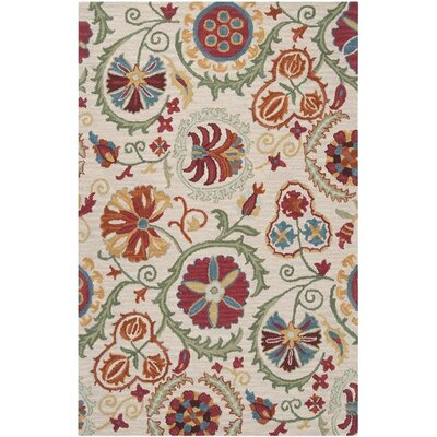 Nala White/Oatmeal/Adobe Multi Rug Rug Size: Rectangle 8 x 11