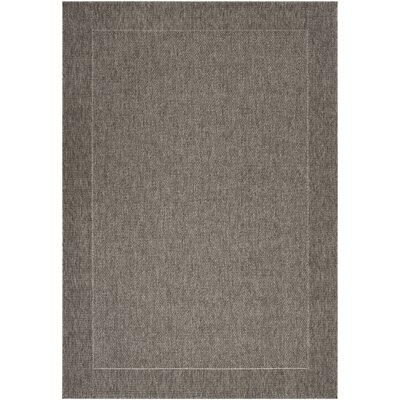 Janessa Dark Gray Outdoor Area Rug Rug Size: 3'11