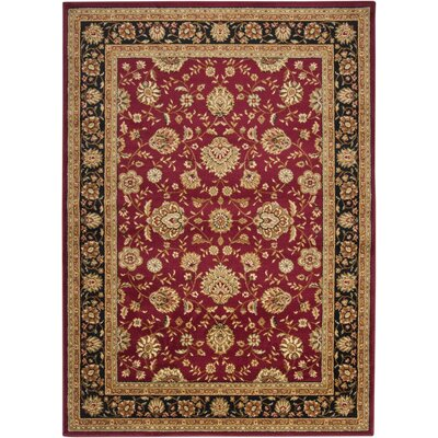 Arbus Red Area Rug Rug Size: Rectangle 710 x 103