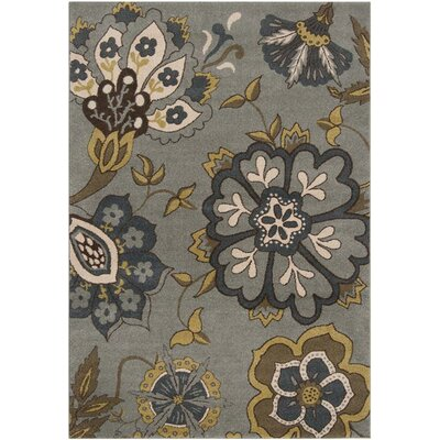 Mya Light Blue Area Rug Rug Size: Rectangle 53 x 76