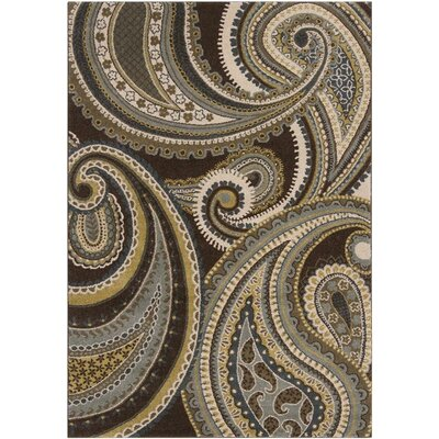 Mya Light Brown Area Rug Rug Size: 67 x 96
