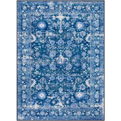 Ranallo Distressed Floral Indigo/Navy Area Rug Rug Size: Rectangle 710 x 103