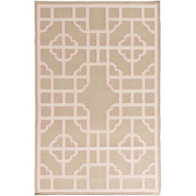 Alameda Tan/Beige Geometric Area Rug Rug Size: 8 x 11