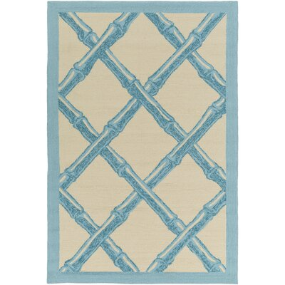 Bondi Beach Sky Blue/Ivory Indoor/Outdoor Area Rug Rug Size: Rectangle 9 x 12