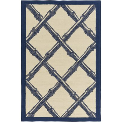 Bondi Beach Cobalt/Ivory Indoor/Outdoor Area Rug Rug Size: Rectangle 9 x 12