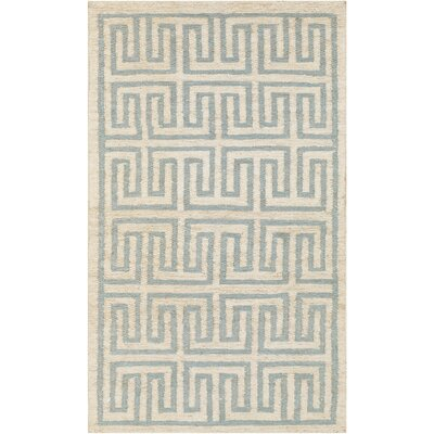 Columbia Beige/Sky Blue Area Rug Rug Size: 2 x 3