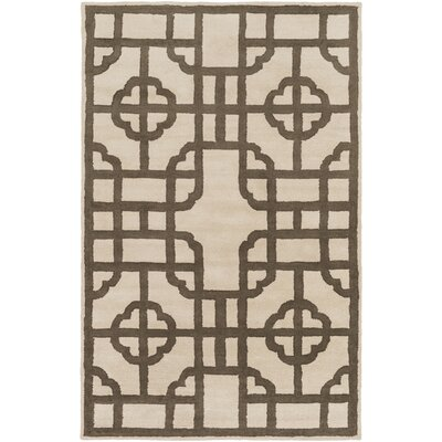 Calaveras Olive/Beige Geometric Area Rug Rug Size: 33 x 53