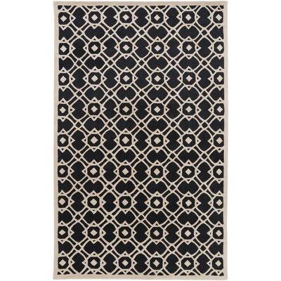 Goa Light Gray/Charcoal Geometric Area Rug Rug Size: 9 x 13