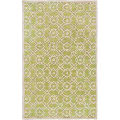 Goa Light Gray/Lime Geometric Area Rug Rug Size: 9 x 13