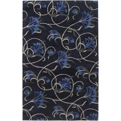 Goa Hand-Tufted Charcoal Area Rug Rug Size: 2 x 3