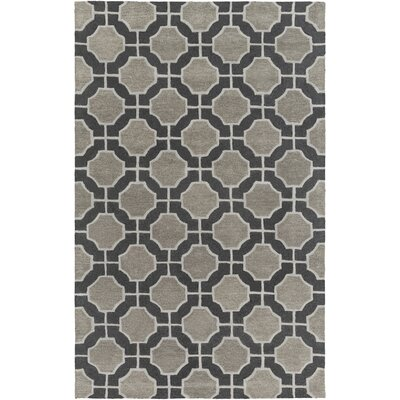 Dream Black/Charcoal Geometric Area Rug Rug Size: Rectangle 9 x 13