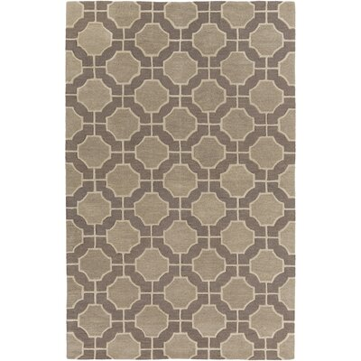 Dream Hand-Tufted Beige/Taupe Geometric Area Rug Rug Size: Rectangle 2 x 3