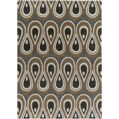 Goa Hand-Tufted Pewter Area Rug Rug Size: 8 x 11