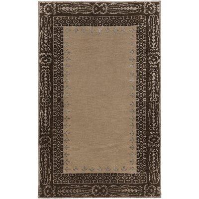 Henna Chocolate Area Rug Rug Size: 33 x 53