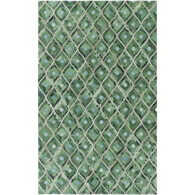 Houseman Hand-Crafted Emerald Area Rug Rug Size: 2 x 3