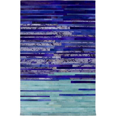 Houseman Hand-Crafted Violet/Iris Area Rug Rug Size: 2 x 3