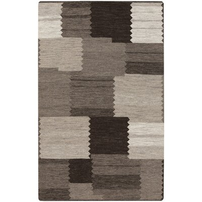 Montezuma Gray/Chocolate Area Rug Rug Size: 33 x 53