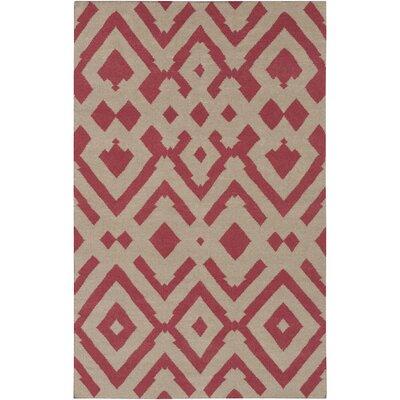 Paddington Gray/Burgundy Geometric Area Rug Rug Size: 2 x 3