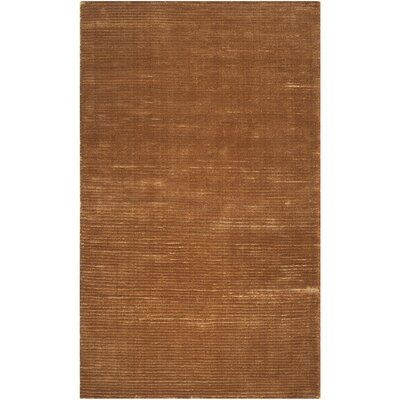 Parallel Gold Area Rug Rug Size: 8 x 11