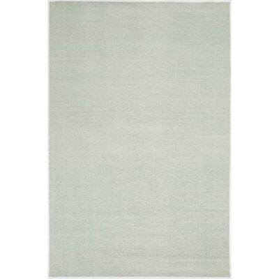 Nostalgia Sea Foam Solid Area Rug Rug Size: 9 x 13