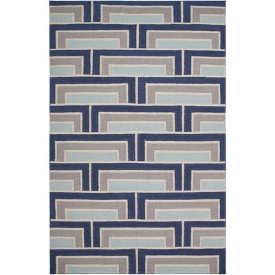 Paddington Navy/Light Gray Geometric Area Rug Rug Size: 2 x 3