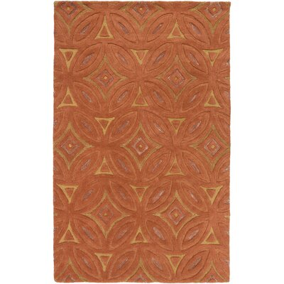 Perspective Rust Geometric Area Rug Rug Size: 9 x 13