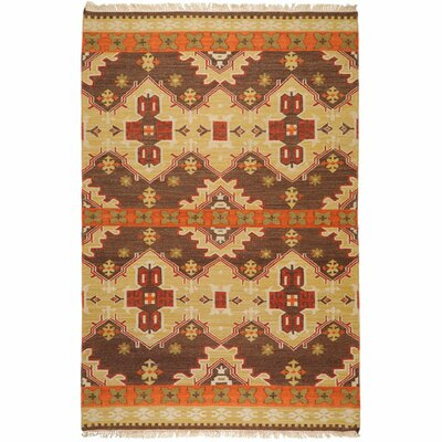 Wellsville Chocolate/Orange Rug Rug Size: 2 x 3