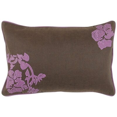 Mascotte Fringed in Floral Lumbar Pillow Fill Material: Polyester